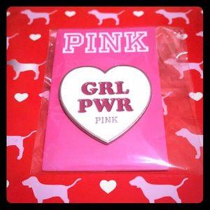 💕 VS PINK RARE Collectible GRL PWR PIN 💕